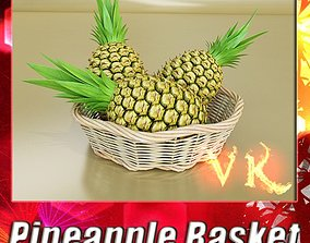 Pineapples in Wicker Basket 10 3D