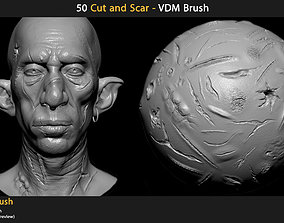 3D model 50 Cut and Scars - VDM Brush