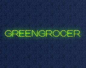 3D asset Greengrocer Neon Sign