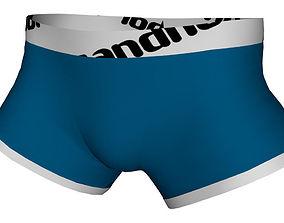 Realistic Underwear Boxer - Low Poly 3D model
