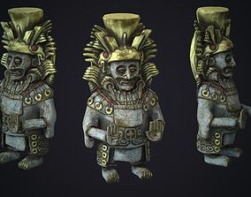 3D asset Statue sculpture Maya Figure Props totem 1