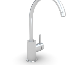 3D model drain Kitchen Faucet