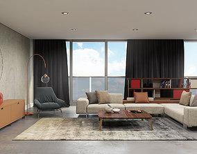 Livingroom Scene 3D