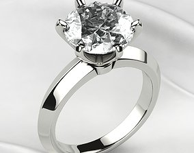 Tiffanys Style 10mm Big Diamond Wedding 3D print model 1