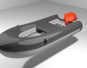3D model Inflatable motor boat - Type 1