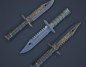 3D asset M9-Bayonet