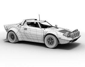 Lancia Stratos rallycar 3D model