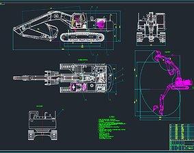 3D 33 tons excavator