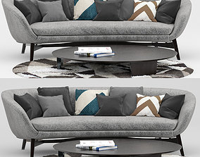 Minotti Russel Sofa 3D
