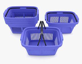 3D model Supermarket - Plastic Shopping Basket