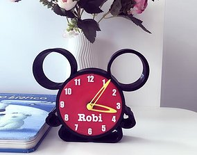 File STL clock Mickey Mouse 3D printable model