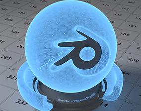 3D model low-poly Hologram Shader