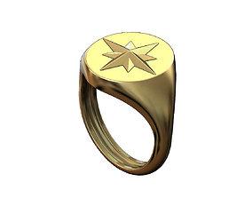 3D print model Signet compass ring