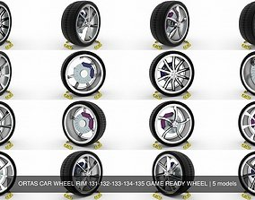3D model ORTAS CAR WHEEL RIM 131-132-133-134-135 GAME 1
