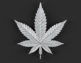 3D print model Marijuana Pendant hemp