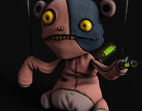 Animated Game-Ready Character - Creepy Teddy Bear 3D asset