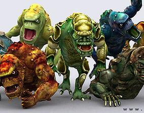 3D asset Monster trolls