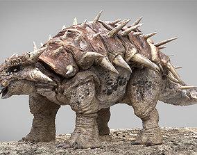 Ankylosaurus Rigged 3D model rigged VR / AR ready