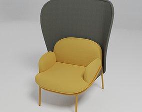 MESH - High-back wingchair - 3D