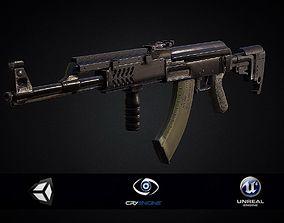 PBR Assault Rifle AK 47 Tactical 2018 3D model