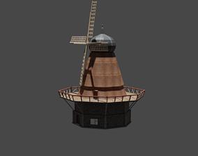 windmill 3D asset VR / AR ready