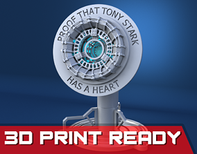 Tony Stark Heart IronMan Arc Reactor 3D printable model