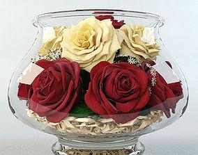 Roses in the aquarium 3D