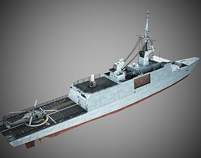 3D model PBR Taiwan of CHINA Kangding Class frigate La 1