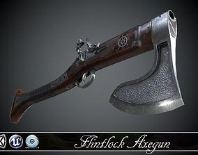 Flintlock Axe-Gun - model and game-ready