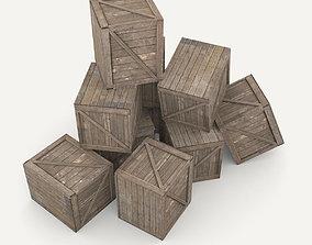 Wooden box 3D asset realtime