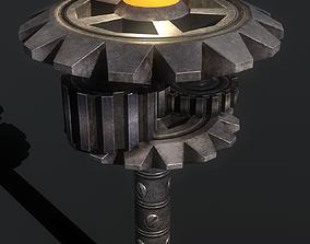 3D model mechanical lamp