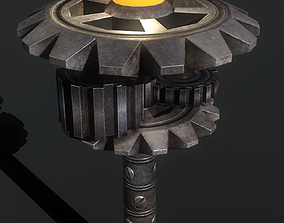 3D model mechanical lamp