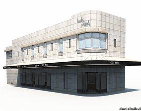 Restaurant Building 3D asset