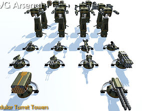 3D model Modular Turret Tower - HQ