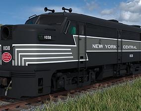 FA-1 Diesel Locomotive with B-unit 3D model