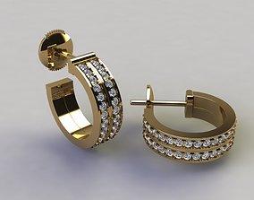 3D print model Double Infinity Diamond Hoop Fashion