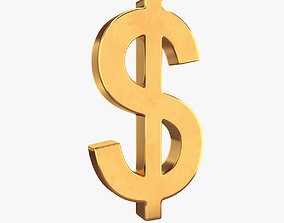 3D Dollar symbol