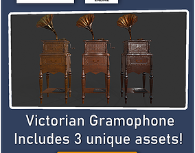 Victorian gramophone - Medieval ANIMATED animated 2