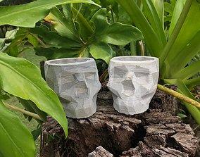 3D print model SKULL CONCRETE POT MOLD