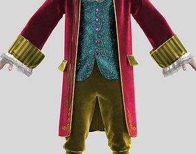Mens suit of 18th century 3D