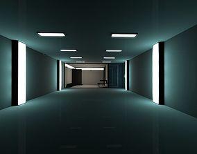 3D asset Super Criminal Hi-Tech Lockup Scene Low Poly Game