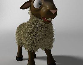 Cartoon Sheep Rigged 3D asset game-ready