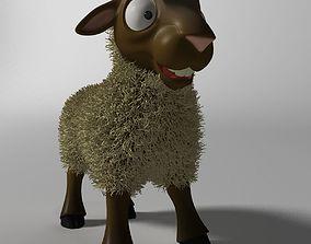 Cartoon Sheep Rigged 3D asset