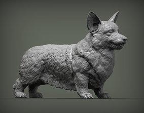 statue corgi 3D print model