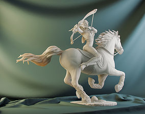 Elf on horse 3D printable model