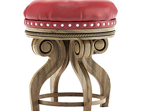 3D leather stool chair
