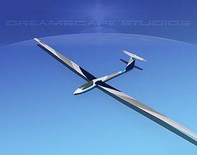 Schleicher ASW 22 Sailplane V03 3D model