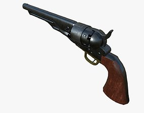 3D asset Colt 1860 Army Low Poly - Game Ready
