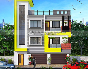 3D EXTERIOR ELEVATION WITH RENDER