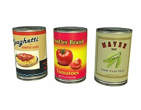 3D asset Canned Food Type 01